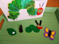 {Montessori-Inspired Caterpillar-Butterfly Unit} The felt pieces are great!