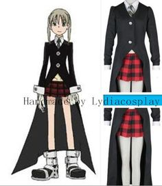 Items similar to Handmade - Soul Eater Cosplay Soul Eater Costume Soul Eater Maka Cosplay Costume on Etsy  sc 1 st  Pinterest & Black Soul Eater Death the Kid Cosplay Costume by RedstarCosplay ...