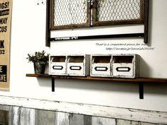 100均の木箱が、塗装だけで見違える!