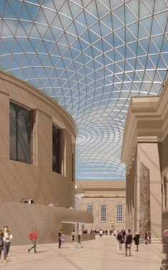 Norman Foster 1999 Laureate, The Great Court, The British Museum, London, UK, 2000