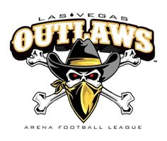 Las Vegas Outlaws Primary Logo on Chris Creamer's Sports Logos Page - SportsLogos. A virtual museum of sports logos, uniforms and historical items. Xfl Football, Arena Football, Football Team Logos, Football Pictures, Football Cards, Football Helmets, Sports Logos, Football Stuff, Iron On Logos