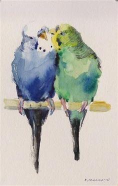 I remember you Bolshie...I know what she did. I miss you. Watercolor ~ © Katya Minkina