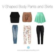 v-shaped body pants and skirts