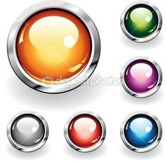 EXAMPLE - style of button for my app. I like the round glass effect