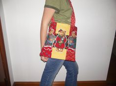 Patchwork Bear Totebag by CraftsAndFinds on Etsy, $10.00
