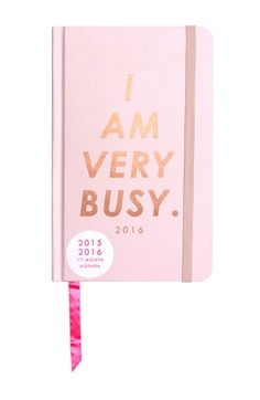 Bando 2015-2016 I Am Very Busy 17 month planner - in pink this year! Get it if you want it - it will sell out fast like last year!