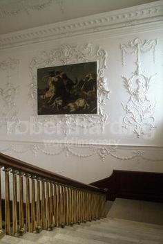 Rococo plasterwork, Castletown House, Co Kildare, Ireland