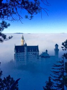 Nueschwanstein castle in Nov.