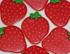 Strawberry Cut out Cookies