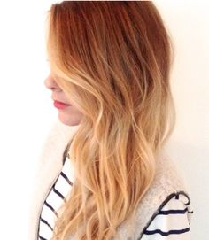 Red and blond ombre