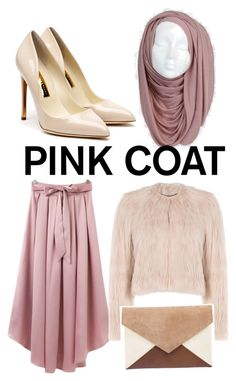 """""""Pink!"""" by nabillasyarah ❤ liked on Polyvore featuring Rupert Sanderson and RED Valentino"""