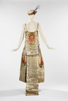 Jeanne Lanvin - Evening dress S/S 1923 Silk, metal, feathers. NY MMA Art, Gift of the Brooklyn Museum