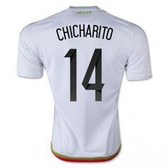 Fotbalové Dres Mexiko 2016 Chicharito 14 Venkovní Krátký Rukáv levně