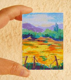 Original ACEO Landscape painting Gift Wrapped Framed