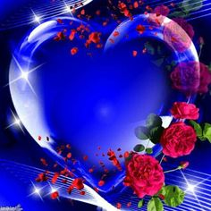 of blue heart Beautiful Love Pictures, Beautiful Flowers, Beautiful Hearts, Heart Art, Love Heart, Hearts And Roses, Rose Images, Heart Pictures, Heart Wallpaper