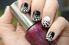 black white nails dots #blackwhite #nailart #dots #dotticure #rijahdk #nails