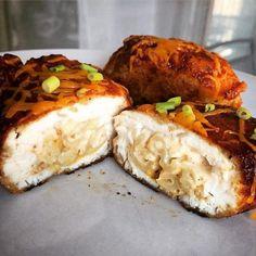 Crispy Bacon Mac & Cheese Stuffed BBQ Chicken