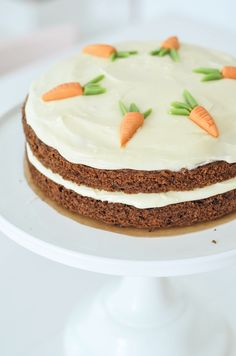 Carrot Cake.  Not really a fan, but love how it's decorated!