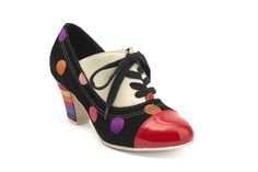 Elsie 411634-90Upper: Suede  Lining: Leather  Outsole: Rubber  Heel: Multi striped rubber  Heel Height: 6.5 cm