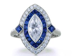 2.59ct+Marquise+Diamond+Art+Deco+Engagement+ring+by+blueriver47,+$5885.00