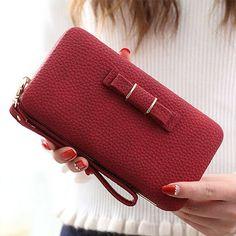 Vintage Long Brand Women Wallets Clutch Bag Ladies Coin Purses Female Wallets Wristlet Big Womens Wallets and Purses mini bag