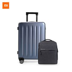 270.10$  Watch here - http://alilsu.worldwells.pw/go.php?t=32762260233 - Original Xiaomi 90 cent Suitcase 24 inch Travel Suitcase 4 Colors Hardside Luggage Travel Bag And Urban Style Leisure Backpack