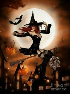 Halloween pin up art Fantasy Witch, Witch Art, Fantasy Art, Witch Pictures, Halloween Pictures, Witch Pics, Halloween Pin Up, Vintage Halloween, Halloween Witches