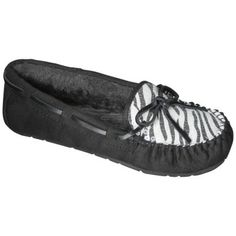 Women's Chaia Moccasin Slipper - Zebra Print