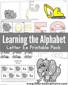 Learning the Alphabet - FREE Letter E Printable Pack, includes mini-books Learning The Alphabet, Preschool Learning, Fun Learning, Preschool Activities, Kindergarten Phonics, Teaching, Learning Objectives, Preschool Curriculum, Homeschooling