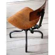 Superbe 1930s Vintage Industrial Machinists Work Chair (No. 2)