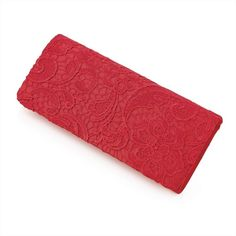 ♥  Satin and Lace Red Clutch Bag £15