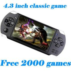 Video Game Console 4GB Free 2000 games 4.3 inch MP5 Players