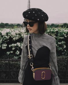 Eli Elvina wearing our Marc Jacobs Snapshot Bag