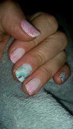 Jamberry nail art manicure pedicure designs - sorbet, Gelato