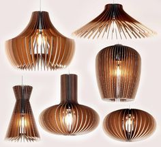 Cardboard pendant lamps