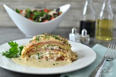 Chicken Cordon Bleu Lasagna - Low Carb, Gluten Free -- this looks absolutely delicious, I'm thinking this will be on the menu for supper in the near future