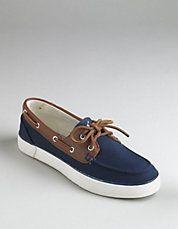Ralph Lauren Sander Canvas Boat Canvas Red Shoes