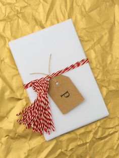 Bakers twine gift wrap ideas.