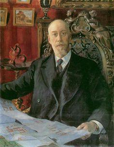 Kustodiev. Портрет Николая Карловича фон Мекка