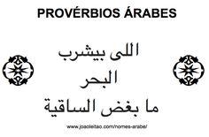 Proverbios Arabes - Frases em Arabe