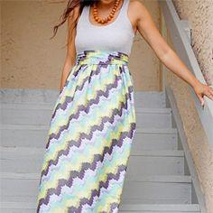 The Crafted Sparrow: 10 Great Summer DIY Maxi Dress & Skirt Tutorials - Darling Stuff Diy Dress, Tank Dress, Dress Skirt, Maxi Dresses, Maxi Skirts, Dress Ideas, Long Dresses, Sew A Dress, Maxi Dress Sewing Pattern