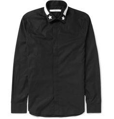 Givenchy Slim-Fit Star-Trimmed Cotton Shirt | MR PORTER
