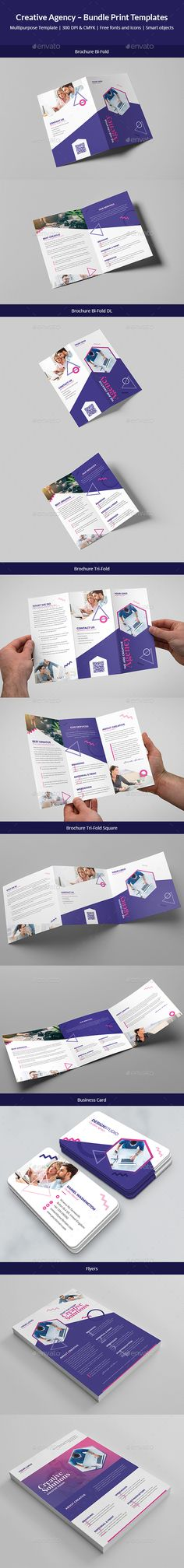 #Creative Agency – Bundle Print Templates 6 in 1 - #Corporate #Brochures