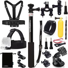 Luxebell Accessories Kit for Gopro Hero 5 Session 5 Hero 4332 Sj4000 Sj5000 Sj6000 AKASO EK5000 EK7000 DBPOWER 12MPEX5000 14MP 10 Items * Be sure to check out this awesome product. This is Amazon affiliate link.