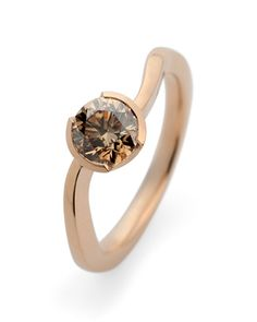 Rose gold and champagne diamonds...match made in jewellery heaven...