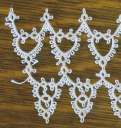 Beautiful as lace for a wedding gown!  contains link to pdf directions #tat #tatting #tatted