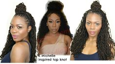 K Michelle Inspired Simple Top Knot with Crinkles/Jungle Barbie