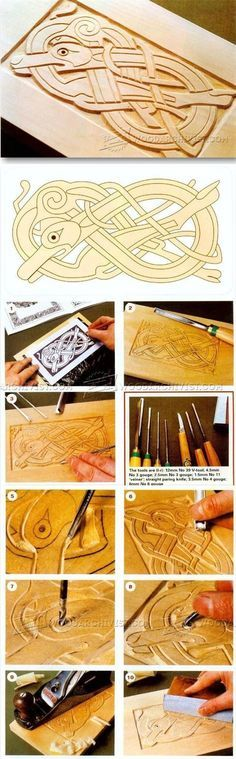 Celtic Wood Carving - Wood Carving Patterns and Techniques   WoodArchivist.com