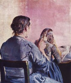 The Hair is Being Braided by Christian Krohg