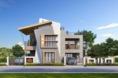 Bungalow House Design, House Front Design, Modern House Design, Building Elevation, House Elevation, Mix Use Building, Building Design, Boundary Walls, Signage Design